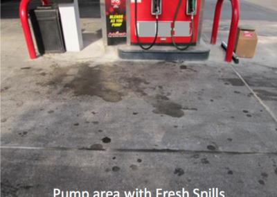 Fresh Diesel Spill Stains